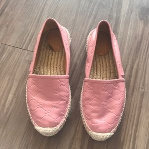Gucci pink espadrilles size 40